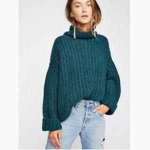 NWT Free People Fluffy Fox Turtleneck Sweater S